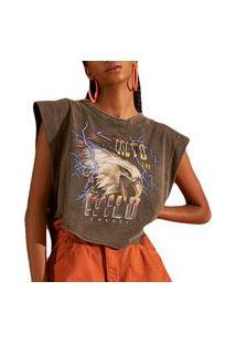 Camiseta Colcci Loose Preto Feminino