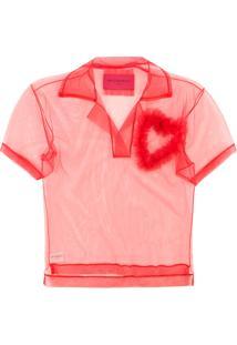 Viktor   Rolf Camisa Polo Translúcida  Lovely  - Vermelho 1e15b10df8799