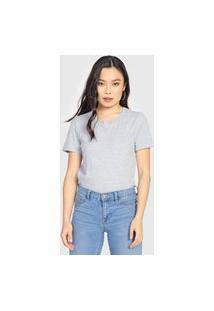 Camiseta Gap Lisa Cinza