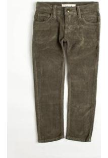 Calça Mini Pf Fiver Pockets Cotele Reserva Infantil Masculino - Masculino-Marrom