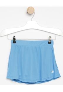 Saia Short Com Logo Abstrata - Azul & Verdewilson