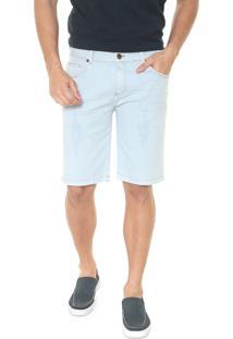 Bermuda Jeans Timberland Reta Dirty Eco Azul