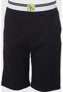 Bermuda Calvin Klein Underwear Logo Preta - Kanui