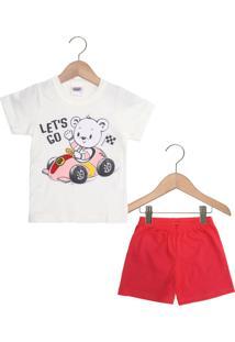 Pijama Duzizo Curto Menino Branco