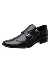 Sapato Social Couro Oxford Clássico Mah Tebas Preto