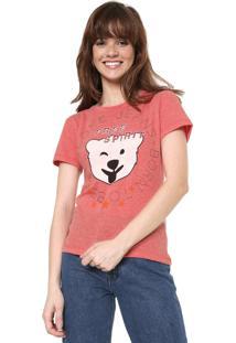 Camiseta Coca-Cola Jeans Free Spirit Rosa