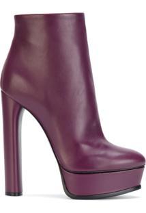 Casadei Bota De Couro 'Duse' - Pink & Purple