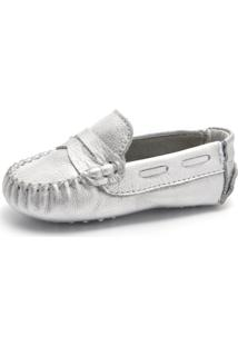 Mocassim Terra Pe Kids Color Bb Prata