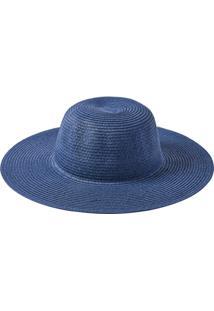 Chapéu Aba Longa Manly Feminino - Feminino-Azul Escuro