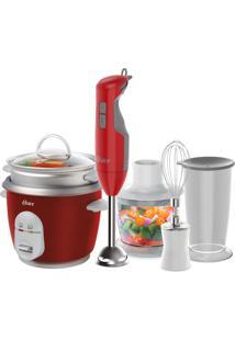 Kit Mixer Delight Vermelho E Panela Facile Oster 127V