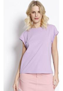 Camiseta Lisa Com Tag - Lilã¡S - Colccicolcci