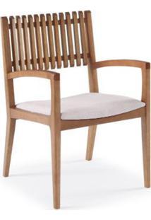 Cadeira Farm Com Bracos Encosto Ripado E Assento Estofado - 50904 - Sun House