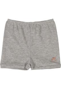 Shorts Bebê Unissex Cinza