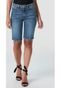 Bermuda Azul Escuro Ciclista Jeans Power
