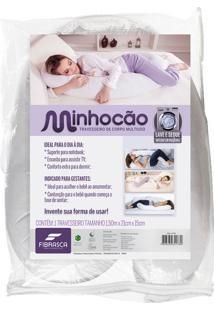 Travesseiro De Corpo Para Gestante Minhocão Branco
