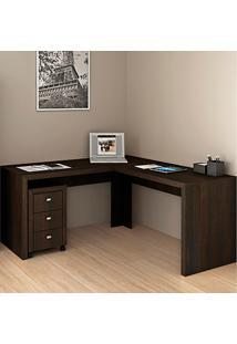 Mesa Para Computador De Canto Me4116 - Tecno Mobili - Tabaco
