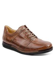 Sapato Social Para Pés Largos Masculino Conforto Sandro Moscoloni Evan Marrom Claro (Looper)
