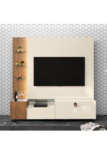 Estante Home Para Tv 65 Polegadas 1 Gaveta Valência Belaflex Branco/Nature