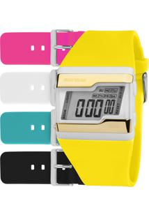 Relógio Digital Mormaii Unissex Troca Pulseiras - Fzcat8A Multicor