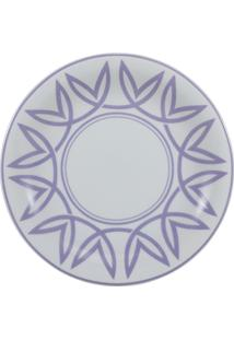 Prato Para Sobremesa Porcelana Schmidt - Dec. Helena Lilás