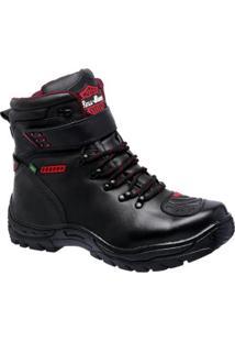 Bota Em Couro Linha Motoqueiro Bell Boots Masculina - Masculino