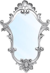 Espelho Clássico Verona Em Resina E Pintura Branco Com Pátina
