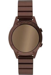 Relógio Euro Digital Digital 40Mm Aço Feminino - Feminino-Marrom