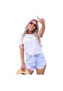 Camiseta T-Shirt Geb Paz Branco