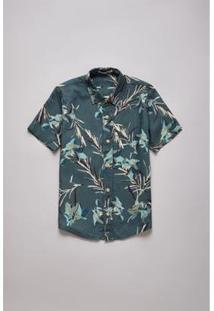 Camisa Sm Mc Lirios Reserva Mini Masculina Infantil - Masculino-Verde Militar