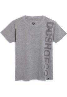 Camiseta Dc Shoes Menino Lettering Cinza