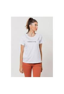 Camiseta Jay Jay Basica I Believe In Me Branca Dtg