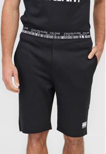Bermuda Calvin Klein Underwear Reta Código De Barra Preta