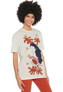 Camiseta Cantão Deusa Atena Off-White