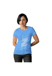 Camiseta Feminina Ezok Z Azul Claro