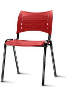 Cadeira Iso Assento Vermelho Base Preta - 54030 - Sun House