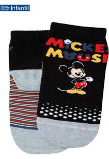 Meia Mickey 2300-246 9990-Preto