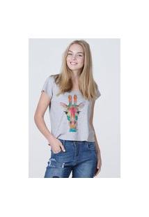 Camiseta Feminina Mirat Girafa Mescla