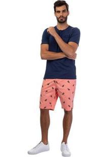 Bermuda Jeans Tng Masculina - Masculino-Rosa