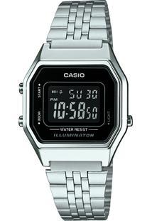 Relógio Digital Casio Feminino - La680Wa1Bdf Prateado