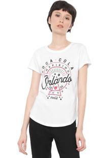 Camiseta Coca-Cola Jeans Orlando Branca