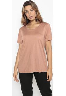 Camiseta Lisa- Marrom- Vide Bulavide Bula
