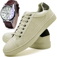 e7cbba2a65 Dafiti. Sapatênis Sapato Casual Com Relógio ...