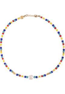 Nialaya Jewelry Short Seebead Necklace - Estampado
