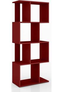 Estante Para Livros Retrô Esm 218 Vermelho - Movel Bento