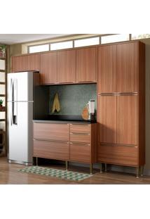 Cozinha Compacta Calábria Com Tampo 11 Portas Nogueira - Multimóveis