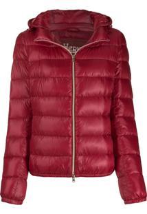 Herno Zip-Front Padded Jacket - Vermelho