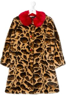 Dolce & Gabbana Kids Sobretudo Animal Print - Neutro