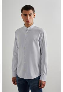 Camisa Regular Oxford Ml Inv19 Reserva Cinza