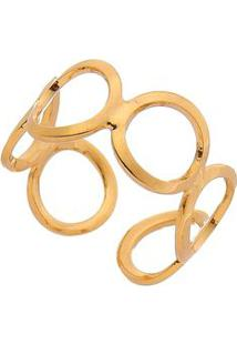 Anel De Falange Banhado A Ouro- Dourado- Regulável