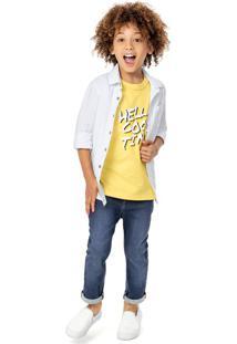 Camisa Com Bolsos Menino Malwee Kids - Branco - 3